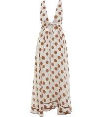 empire polka dot bow dress