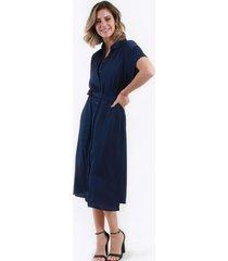 vestido camisero azul marino night concept