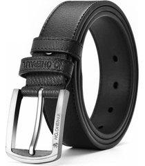 cinturón clásico hombre casual cuero 125cm dkk1 negro
