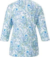 pyjama van 100% katoen met ornamentprint van hautnah turquoise