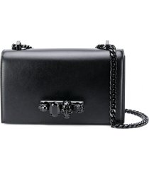 alexander mcqueen knuckle duster shoulder bag - black