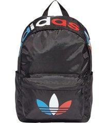 mochila negra adidas originals  tricolor