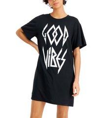 hybrid juniors' good vibes-graphic t-shirt dress