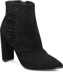 frillis shoes boots ankle boots ankle boots with heel svart ted baker