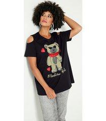 shirt angel of style zwart::grijs