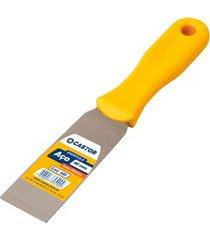 espátula em aço 40mm com cabo de plástico amarelo