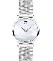 reloj  movado 607350 plateado acero hombre