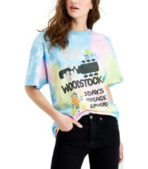 junk food tie-dyed woodstock graphic cotton t-shirt