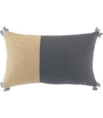 poduszka dekoracyjna cindy dark grey 30x50 cm