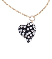 betsey johnson pearl heart pendant long necklace