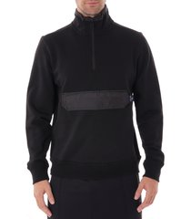 paul smith half-zip tunnel neck sweatshirt - black m2r-538t