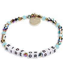 women's little words project ride or die stretch bracelet
