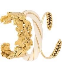 aurelie bidermann 'diana & tangerine' bracelets - metallic