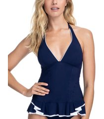 profile by gottex belle curve halter tummy control tankini top women's swimsuit