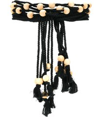 philosophy di lorenzo serafini rope and bead belt - black