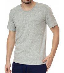 camiseta masculina bã¡sica mescla com bordado area verde - 88% algodã£o / 12% poliã©ster - multicolorido - masculino - dafiti