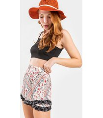 willie floral mix shorts - multi