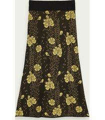 scotch & soda knitted jacquard pattern midi skirt