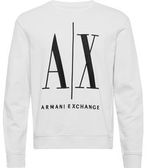 ax man sweatshirt sweat-shirt tröja vit armani exchange