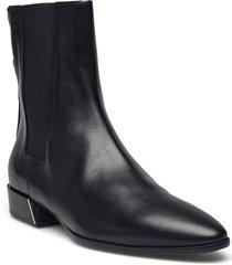 furla grace shoes boots ankle boots ankle boot - flat svart furla