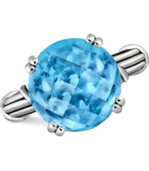 peter thomas roth blue topaz ring (12 ct. t.w.) in sterling silver