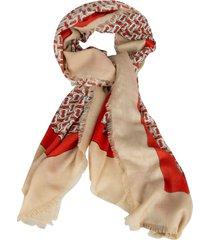 burberry monogram lightweight cashmere scarf
