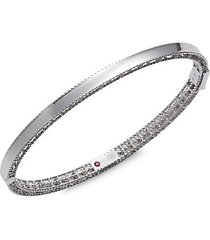 18k white gold & ruby bangle bracelet