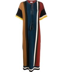 colorblock stripe shirt dress