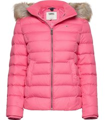 tjw basic hooded down jacket fodrad jacka rosa tommy jeans