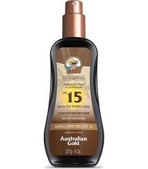 protetor solar australian gold spray gel fps 15 - 237ml único