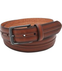 fossil men's baker leather belt