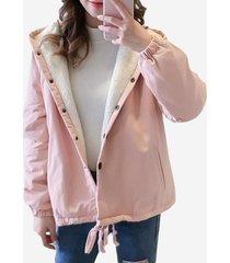 cappotto con cappuccio in velluto stampato addomesticato di gatti