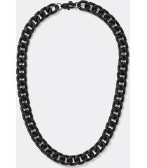 river island mens black large chain necklace