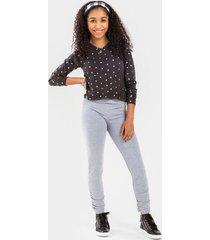 franki ruched leggings for girls - gray