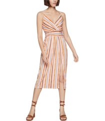 bcbgeneration striped surplice midi dress