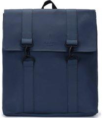 rains msn water repellent backpack - blue