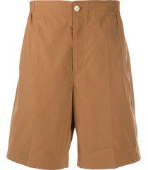 gucci pleated bermuda shorts - brown