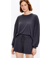 loft petite lou & grey ribbed sweatshirt