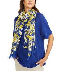 weekend max mara banana floral-print scarf