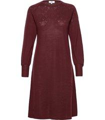 dress long sleeve knälång klänning röd noa noa