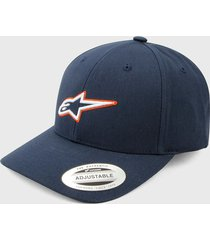 gorra azul navy-blanco-naranja alpinestars trace velo