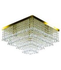 lustre de cristal acrilico dreamcrillic 40x40 dourado gold