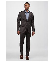 1905 collection tailored fit glen plaid men's suit with brrr°® comfort - big & tall by jos. a. bank