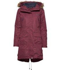 sande 2-layer technical coat parka lange jas jas rood skogstad