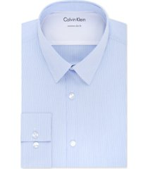 calvin klein x men's extra-slim fit thermal stretch performance stripe dress shirt