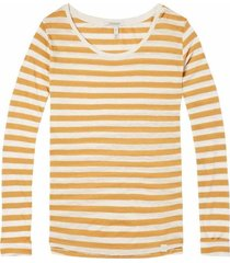 144921 - basic relaxed fit long sleeve top in stripes and prints - combo t - 99 - 18210250921