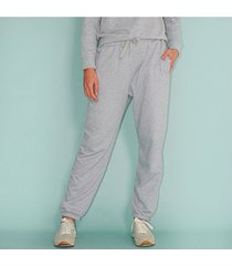 pantalón comfy tipo jogger, fluido, tiro alto color-gris-talla-8