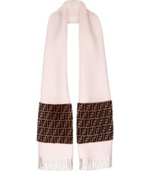 fendi touch of fur scarf - pink