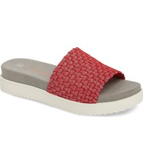 women's bernie mev. capri slide sandal, size 10us - red