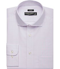 pronto uomo pink & blue plaid dress shirt